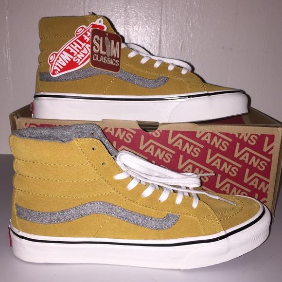 ef162cf97a NWT Vans Vintage Suede SK8-Hi Slim Amber Gold